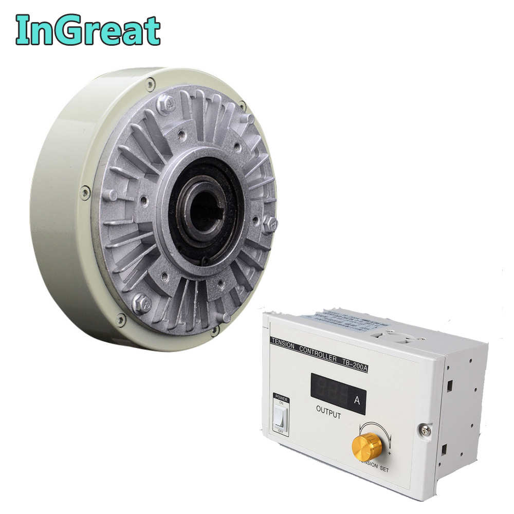 25Nm 2.5kg DC24V Hollow Shaft  Magnetic Powder Brake & Manual Tension Controller Kits For Printing Packaging Peritoneal Machine