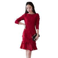 Spring women Slim solid color organza net yarn embroidery stitching ruffles lotus leaf halter dress mini sexy jupe mujer MZ1290