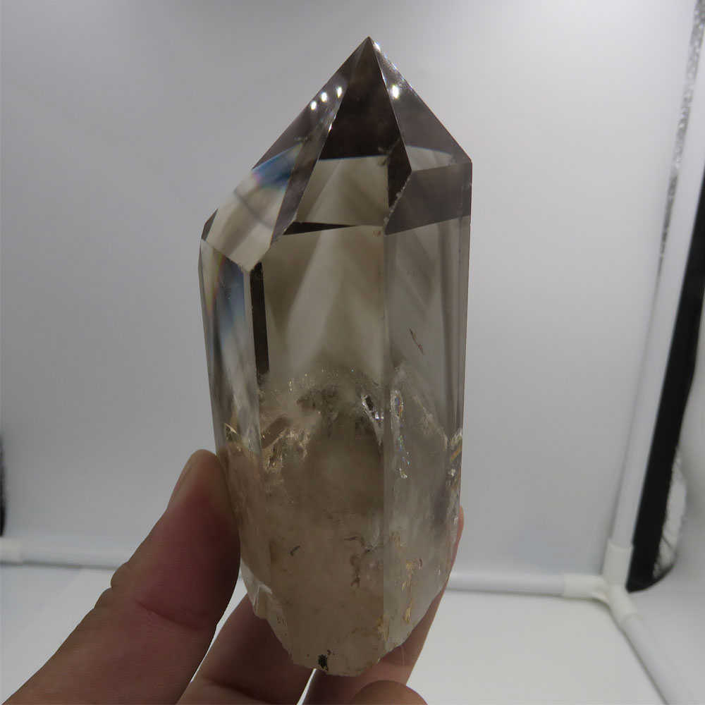 Rare Natural Rainbow Quartz Crystal Stones Point Specimen Healing Stone Decor