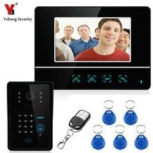 7 Inch RFID Password Video Door Phone Video Doorbell Entry System Intercom Kit 1-camera 1-monitor Night Vision Security Camera