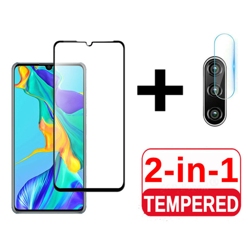 2 In 1 Tempered Glass For Huawei P30 P30lite P20 Pro Glass Psmart 2019 Screen Protector Protective Glass For Huawei P20 P30 Lite