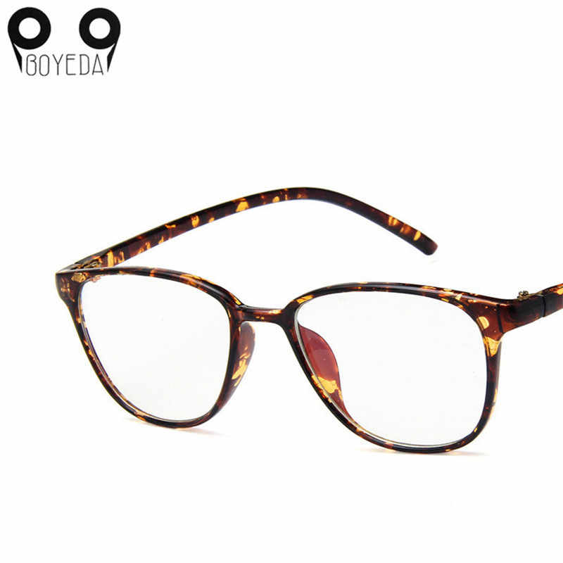 2ffd529b024 ... BOYEDA New Women Men Clear Transparent Glasses Young People Square Frame  Fashion Ultralight Frame Eyeglasses Prescription ...