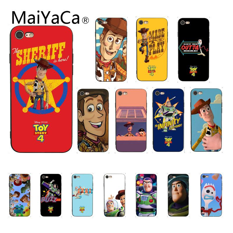 Maiyaca <font><b>Toy</b></font> <font><b>Story</b></font> Pizza TPU Soft Silicone Phone Case Cover for <font><b>iPhone</b></font> 5 5Sx 6 7 7plus 8 8Plus X XS MAX XR 10 Case image