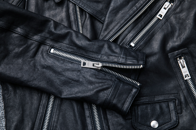 HTB1eF.OFwmTBuNjy1Xbq6yMrVXaP MAPLESTEED 100% Natural Sheepskin Tanned Leather Jacket Black Soft Men's Motocycle Jackets Motor Clothing Biker Coat Autumn M111