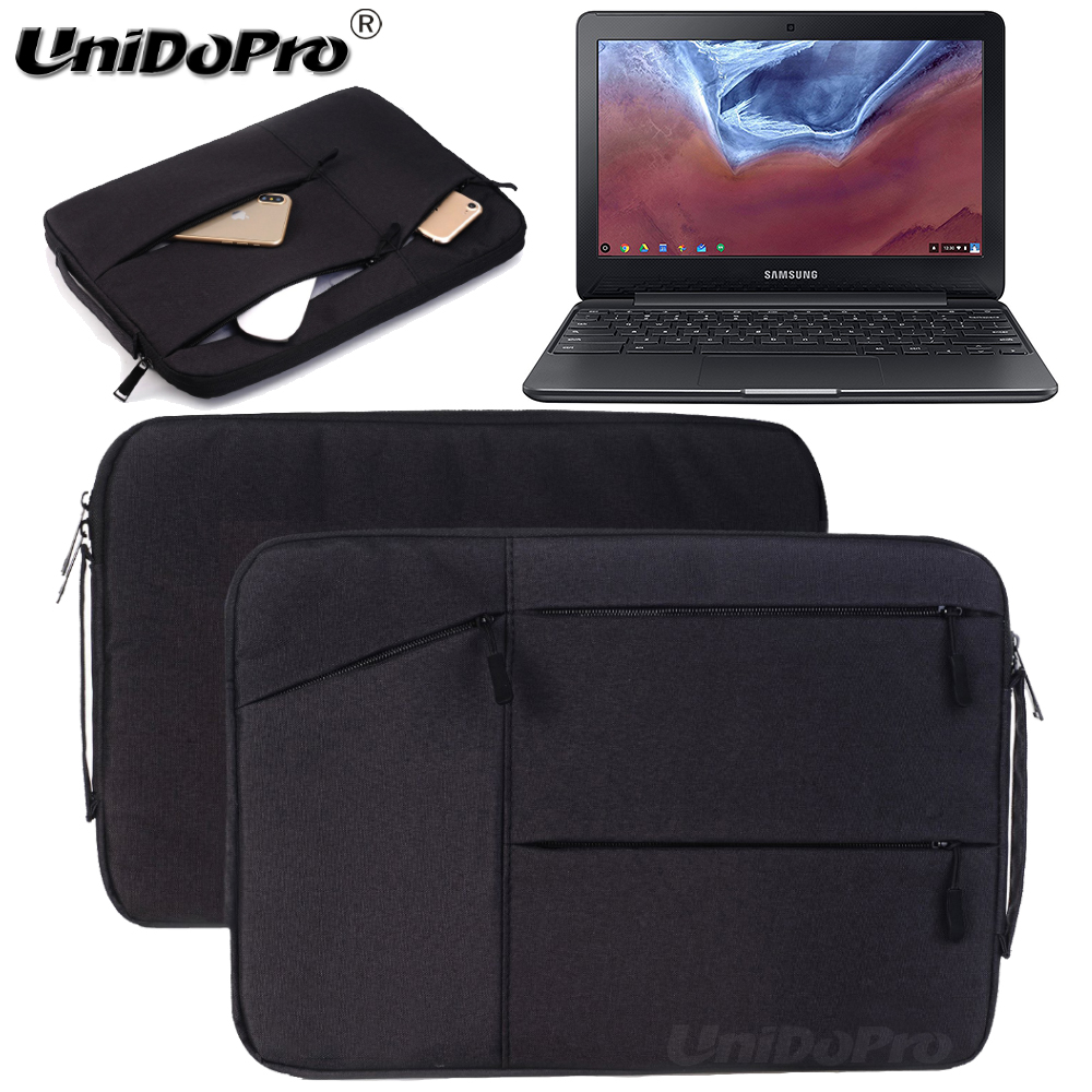 Unidopro Multifunctional Sleeve Briefcase Handbag Case for Samsung Chromebook 3 11.6 XE500C13-K04US Mallette Carrying Bag Cover