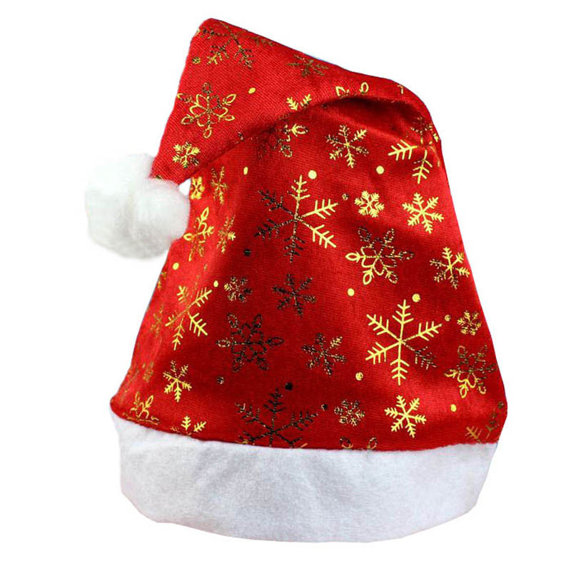 1PC New Christmas Hat New Year Cap For Santa Claus Gifts Nonwoven New Year'S Products Christmas Hat