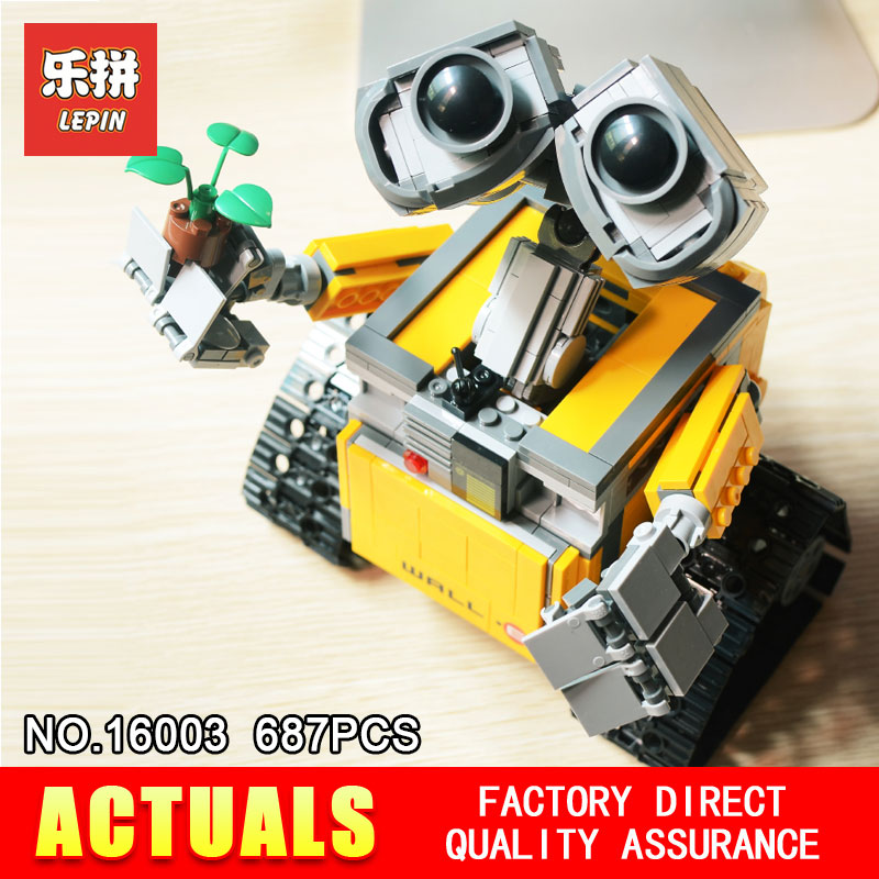 Lepin 16003 687Pcs Idea Robot WALL E Building Set Kits Bricks Blocks Brock toy Model Bringuedos 21303 for children 2017new lepin16003 idea robot wall e building set kitstoys e kits blocks single sale brickstoystoys for childrenbirthdaygifts