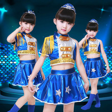 New Design Children's Performance Modern Dance Dress Jazz Dance Suit for Girls /Boys Stage & Dance Wear