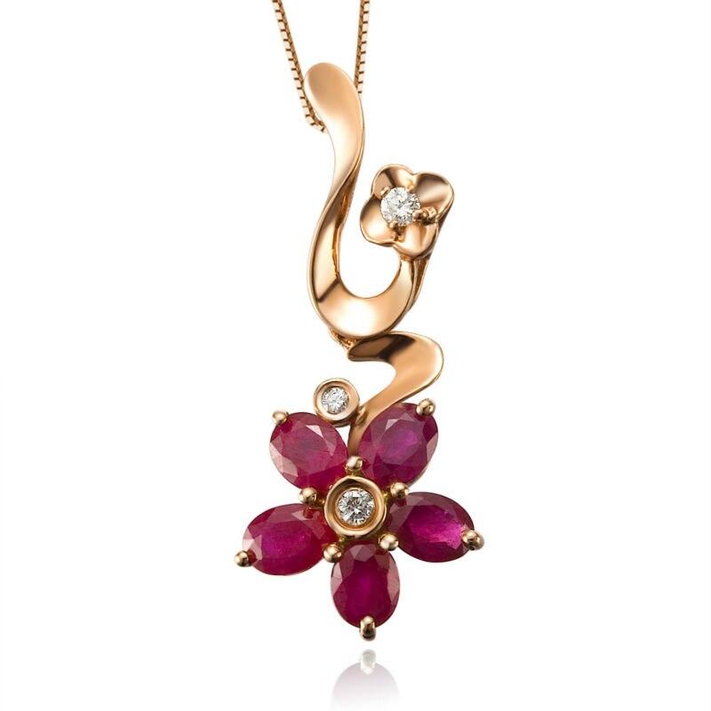 Серьги GVBORI из натуральных жемчужин Рубин ожерелье из страз с подвеской [цветок] свадебное ожерелье для женщин ювелирные украшения на День святого Валентина