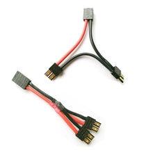 Conector de clavija TRX, Cable paralelo, extensión de 1 a 2, adaptador para juguetes de carreras RC