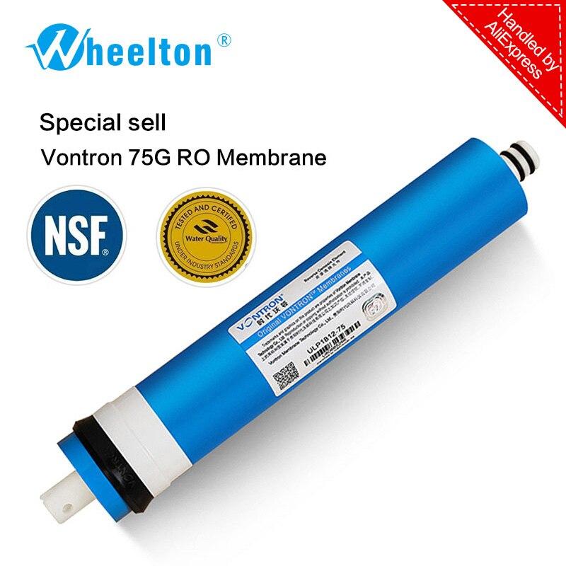 Neue Vontron 75 gpd RO Membran für 5 stufen-wasserfilter ozon-behandlung umkehrosmose-anlage zertifiziert NSF/ANSI freeship