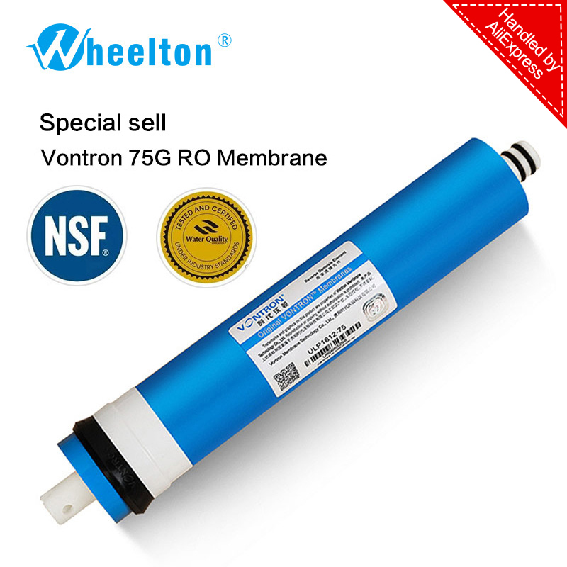 New Vontron 75 gpd RO Membrane for 5 stage water filter purifier treatment reverse osmosis system certified to NSF/ANSI freeship 50 gpd ro membrane sheet for housing residential water filter ro membrane reverse osmosis system with nsf ansi standerd