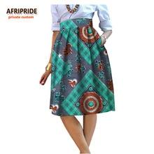 2017 summer Original african style garment midi skirt for women private custom high quality batik cotton femmal clothing A722704