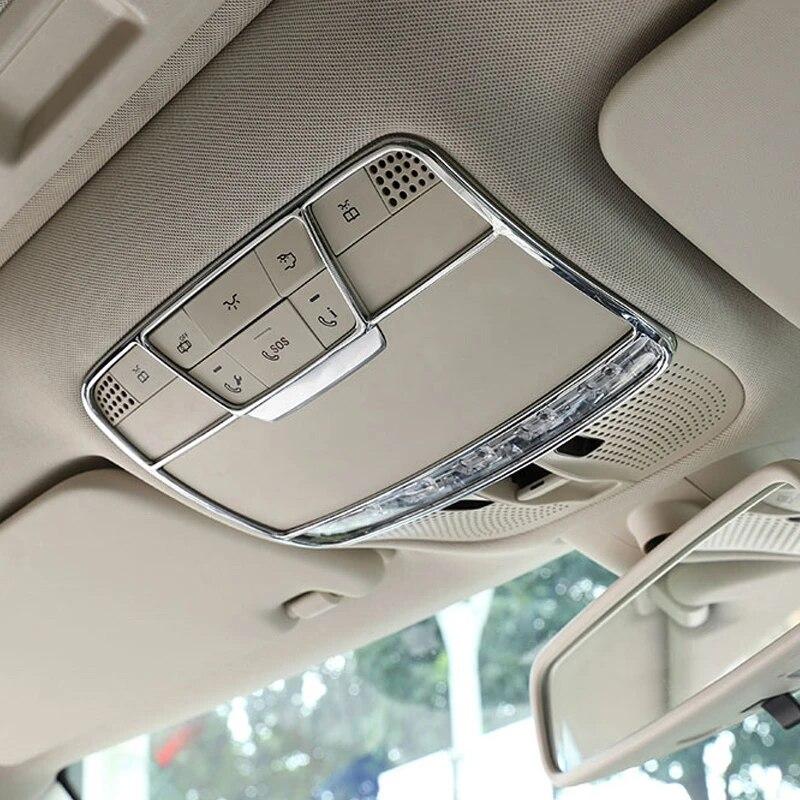 REFURBISHHOUSE pour Mercedes Benz W205 Classe C C260 Classe E W213 E200L GLC 2015-2017 Accessoires De Voiture Garniture De Cadre De D/écoration De Lampe De Lecture Avant ABS
