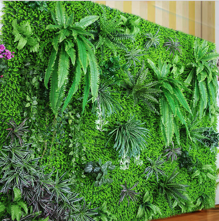 1 Square Meter Artificial Grass Wall Plastic Plant Vertical Garden Fake Plant Grass Shop Image Wall Home Decor