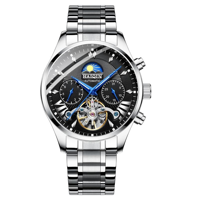 HAIQIN hommes/hommes montres top marque luxe automatique/mécanique/de luxe montre hommes sport montre-bracelet hommes reloj hombre tourbillon - 6