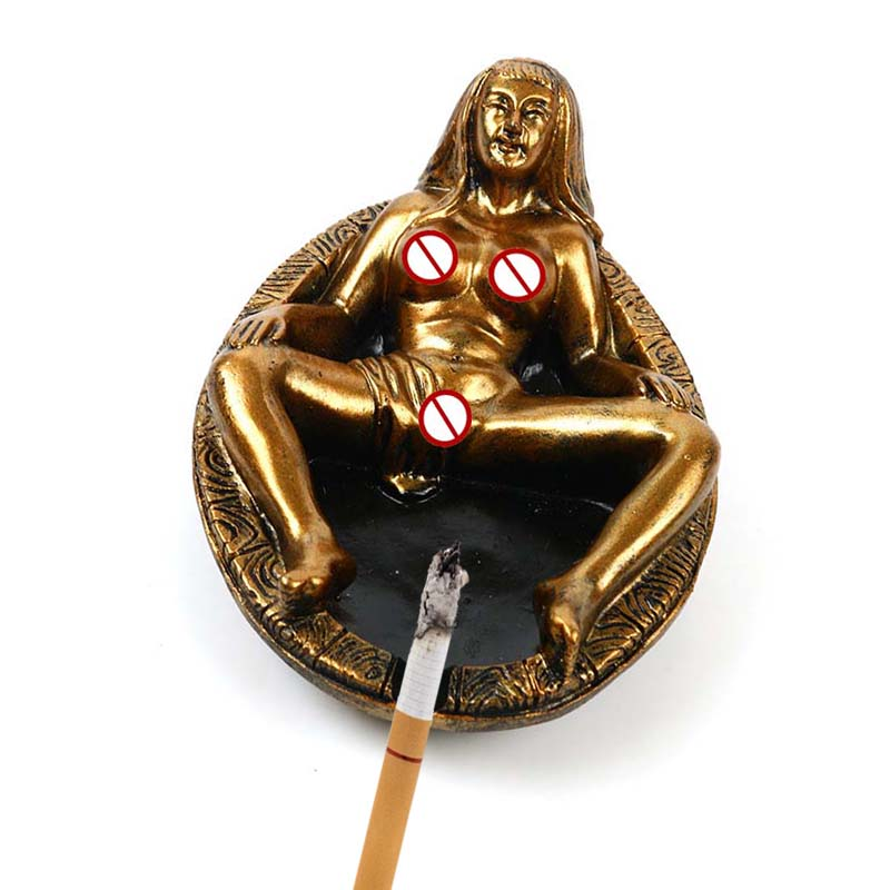 Sexy Lady Ashtray Resin Cigarette Ashtray Ash Tray Home Decoration Office Desktop Crafts Cigar Cigarette Accessories Gifts