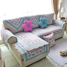 Современный стильный диван Хлопковый чехол с принтом для сиденья