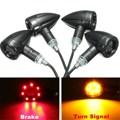 4 pcs 12 V Universal Motos LED Turn Signal luz Traseira Luzes de Freio