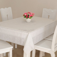 European Style Durable PVC Table Cloth Oil/Water Proof Tablecloth Wedding Table Cover Rectangle No Wash Kitchen Hotel Tablecloth