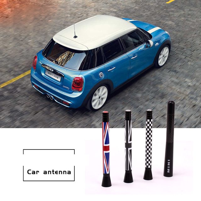 Union Jack Car Roof Radio Aerial Fm Antenna Antena For Mini Cooper S Jcw R55 R56 R57 R60 F55 F56 Clubman Countryman Accessories