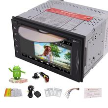 Android 7.1 2Din Car GPS Sat Navigation Touchscreen Head Unit DVD/MP3/Radio FM Player Stereo support/Bluetooth/USB/CAM-IN+Camera