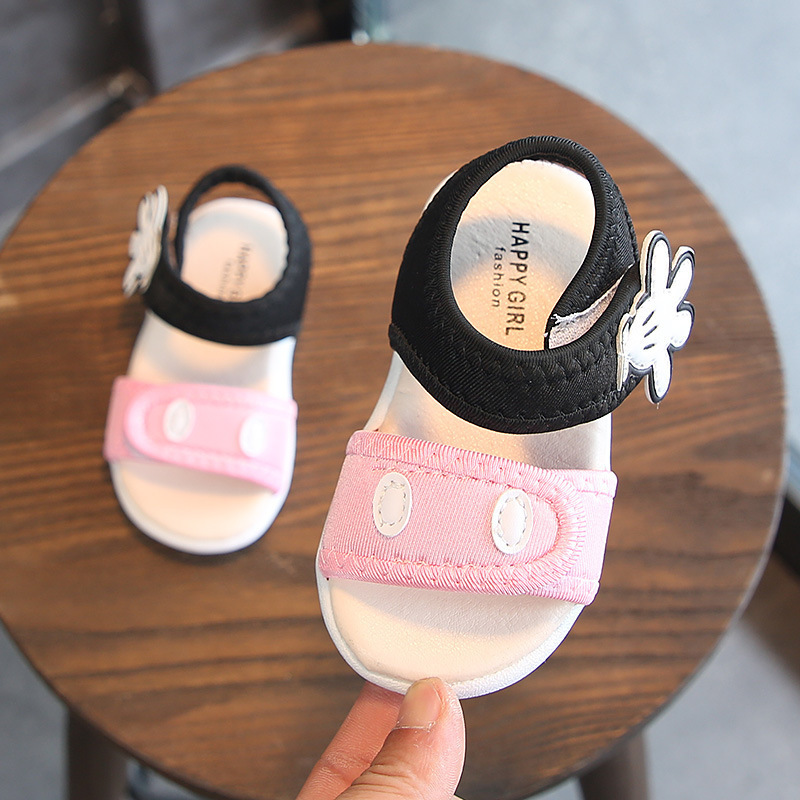 Summer Baby Shoe Baby Soft Bottom Non-slip Learn To Walk Sandals Men And Women Baby Beach Shoes Cartoon Toe Small Sandals