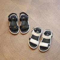 2017 Zomer Jongen Schoenen Baby Sandalen Nieuwe Koreaanse kinderen Sandalen Meisjes Strand Sandaal zwart/wit zachte pu sandalen