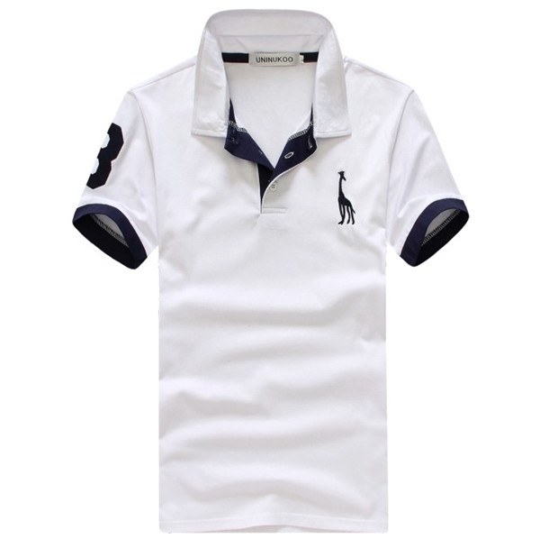 05618cb57 Free Shipping Solid Color Embroidery Men's Polo Shirt Casual Design Golf  Polo Shirt for Man New Year / Christmas Gifts
