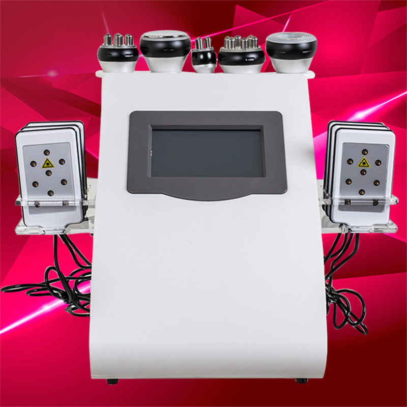 6 In 1 Ultrasonic Cavitation Vacuum RF Lipo Laser Slimming Machine For Spa