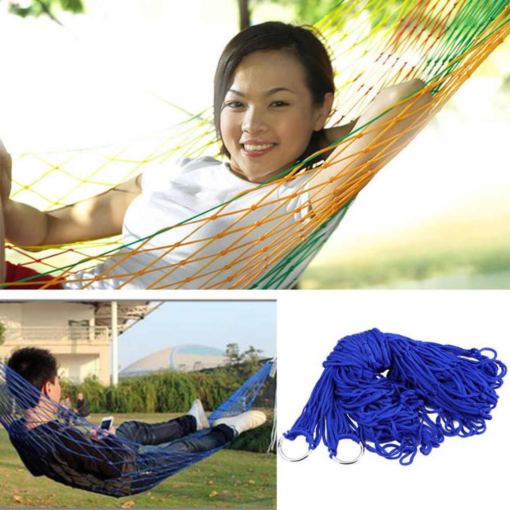 Крытый Открытый Качели взрослых детей утолщаются нейлон тканевый гамак сетка повесить крепкая веревка для путешествий Кемпинг пляж