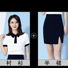 2019 new style fashionable temperament interview dress overalls stewardess uniform summer