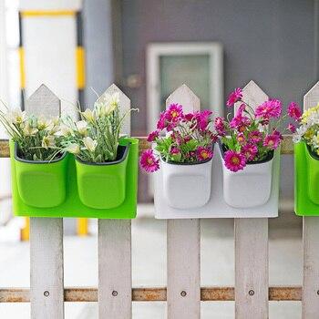 ใหม่มาถึงพลาสติกแขวนผนังดอกไม้หม้อ succulents planter บ้านและสวนโรงงานในร่ม,สวนอุปกรณ์