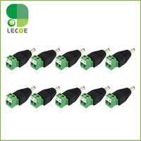 10 sztuk/partia zasilania DC wtyk męski wtyk złącze 5.5/2.1mm dla kamery monitoringu