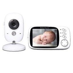 Видеоняня, беспроводная, цветная, с ЖК-экраном 3,2 дюйма, 2-сторонняя аудиосвязь, функция ночного видения