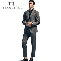 TIAN QIONG Men Latest Coat Pant Designs 50%WOOL Tailor made Wedding Suit Stage Wear Clothing Fashion Mens Breasted 2 Piece Suits
