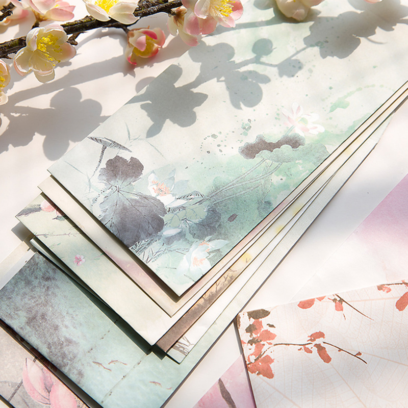 5 Pcs/lot Vintage Landscape Envelope Postcards Greeting Card Cover Paper Envelopes Stationery School Supplies Gift Envelope