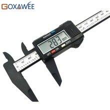 Promo offer GOXAWEE 150mm 6 inch LCD Digital Electronic Carbon Fiber Vernier Caliper Gauge Micrometer Measuring Tool Plastic Caliper