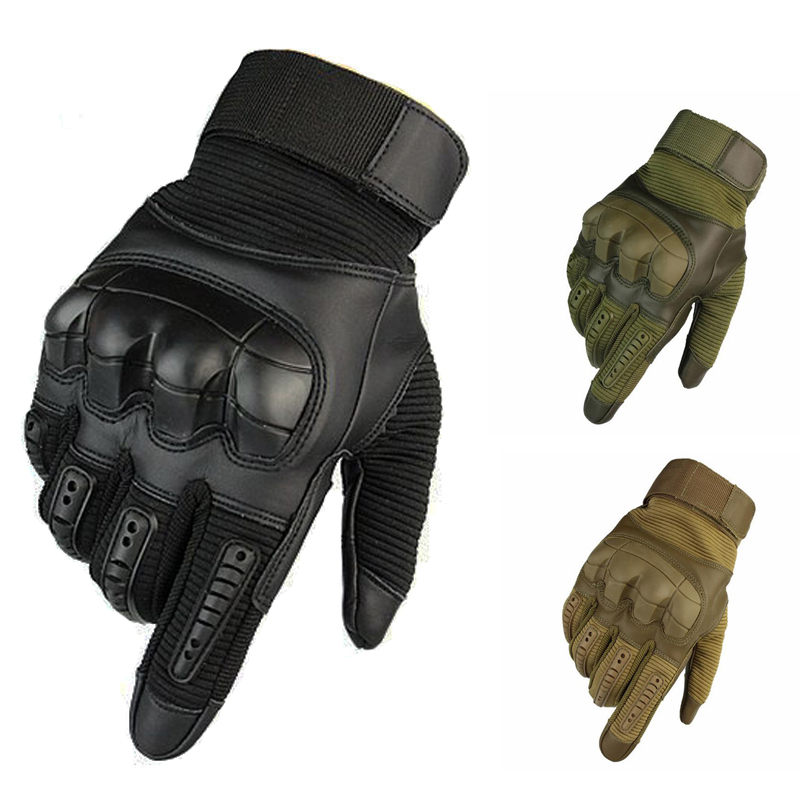 Tactical Gloves Touch Screen Full Finger Sports Gloves For Hiking Cycling Military Men's Gloves Hard Knuckle Protection Gloves
