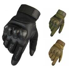 Тактические перчатки с сенсорным экраном, полный палец, спортивные перчатки для пешего туризма, велоспорта, военные мужские перчатки, Жесткие защитные перчатки