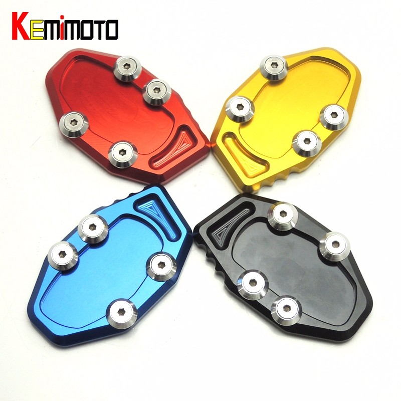 MT-03 MT-25 R25 R3 CNC Side Stand Kickstand Support Plate Foot Pads for YAMAHA YZF-R3 YZF-R25 2014 2015 2016 MT 25 MT 03 (7)