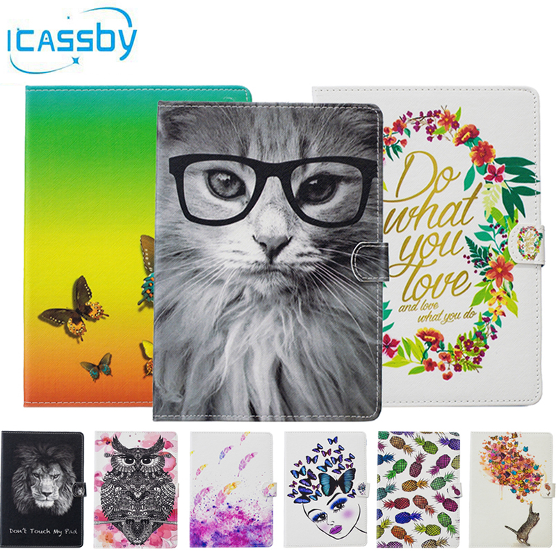 цена на Phone Etui For Coque iPad Air 2 Case Luxury Butterfly Owl Leather Wallet Flip Cover For Apple iPad Air 2 iPad 6 Housing Capinha