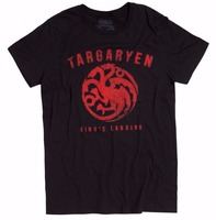 Men Fashion Game Of Thrones TARGARYEN SIGIL DRAGON T Shirt NWT Licensed Official Print T Shirts