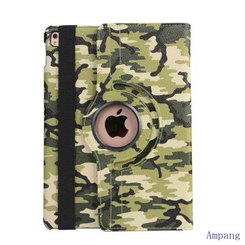 Fashion Camouflage Cover for iPad 2 Case 360 Rotating Cover for iPad 4 Case PU Leather Smart Stand Flip Case for iPad 3 9.7 inch