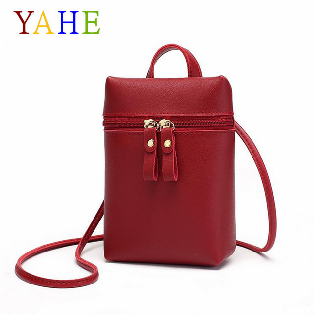 YaHe Mini Shoulder Bag Women PU Leather Coin Phone Wallet Small Ladies Messenger Bag Black Pouch For Girls Kids Children 2018