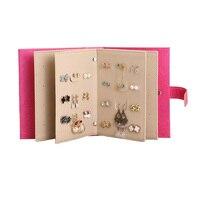 Mordoa 2018 Nuevo Diseño de Cajas de Joyas Y Embalaje de Cuero de La Pu Stud Pendientes Exhibición de La Joyería Colección Libro Creativo Joyería
