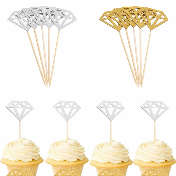 Diamond shaped Cupcake Topper