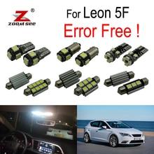 10 шт. светодиодный светильник багажника+ Внутренняя купольная карта зеркальный свет комплект для сиденья аксессуары для Leon MK3 5F 5F1 5F5 5F8(2013