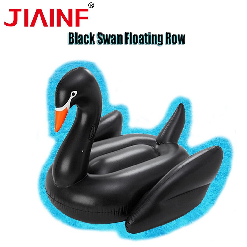 JIAINF vente chaude géant gonflable équitation cygne noir piscine d'eau flotte piscine partie jouet natation Air matelas lit été flotteurs