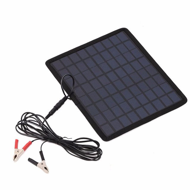 12V 5W Solar Charging Board Polysilicon Chargers Battery Portable Consumer Electronics For Car Boat Automobile Outdoor Travel 5